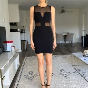 Little black dress w Nude Illusion Cut-Outs